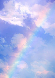 Happy Monday Rainbow Sky (free texture) Creative Commons