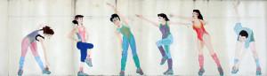 Thailand Details - Aerobics Mural at Samitivej Sriracha Hospital - Sriracha, Thailand