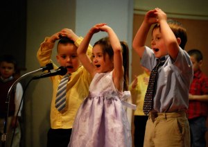 St. Anthony's preschool Easter program last night